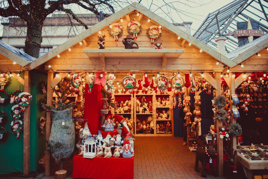kerstmarkt marktkraam
